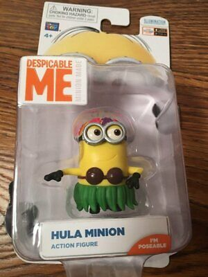 "Despicable Me Minions poseable Action Figure HULA MINION 2""~NEW~"