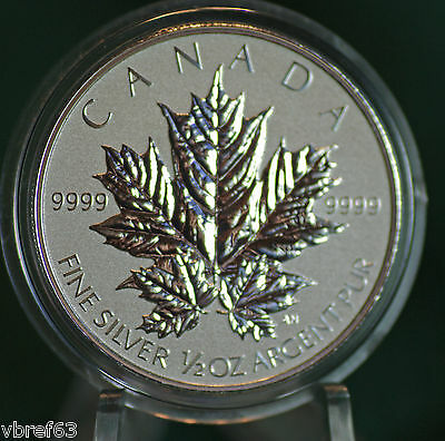 2013 CANADA $4 Silver Maple Leaf 1/2 oz Reverse proof from Fractional set