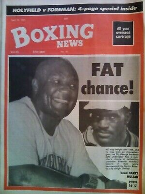 BOXING NEWS  19 Apr 1991 - VINTAGE - FOREMAN/HOLYFIELD - VERY GOOD CONDITION
