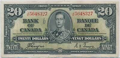 Bank Of Canada 20 Dollar 1937 Je5648327 Bc25C