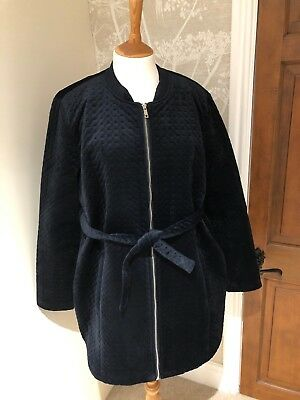 721765a878407 mamalicious Dark Navy Velvet Maternity Coat Excellent Condition Size XL