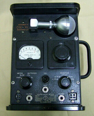 Vintage General Radio Sound Level Meter 1551-A w/ Shure 1551-A Microphone
