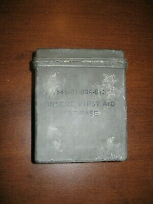 USED Military first aid kit hard insert case OD green olive drab IFAK pouch