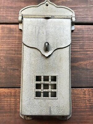 Vintage Original Antique Craftsman/Arts&Crafts/Mission Aluminum Porch Mailbox