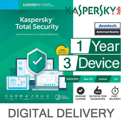 Kaspersky Total Security 2020 (3PCs) Antivirus Multi-Device Genuine License