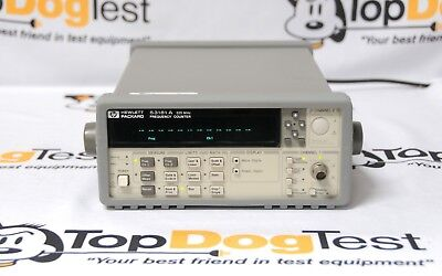 """Hp Agilent Keysight 53181A Frequency Counter 225 MHz, 10 digit/sec """" CALIBRATION"""