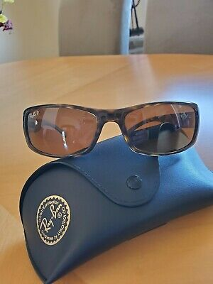 e329d9288 New Ray Ban RB3514 149/83 Square Flat Gold Frame Brown Polarized 56mm  Sunglasses.