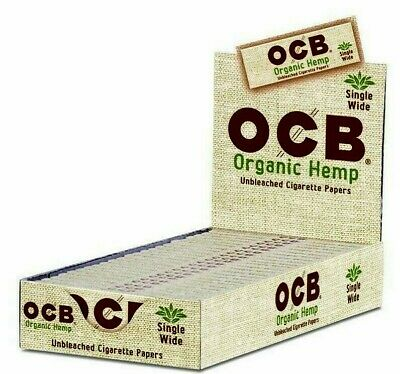 2 Packs OCB ORGANIC HEMP ROLLING PAPERS 50 Lvs/Pk Free Shipping in the USA