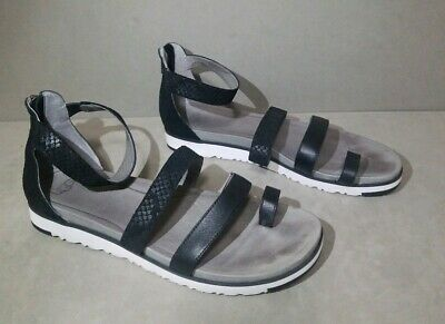 e2b8d023b90 UGG AUSTRALIA ZINA Sandals Strappy 1012344 Women's Size 12 Back Zip Textured