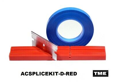 "Splicing Kit Open Reel Audio With 1/4"" RED Splicing Block & Splicing Tape TME"