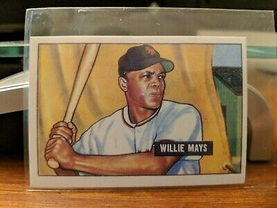 New York Mets Willie Mays 1951 Bowman Rookie Rc R Reprint