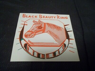 1960`s Black Beauty Ring Card Paper Ad from Vending Machine