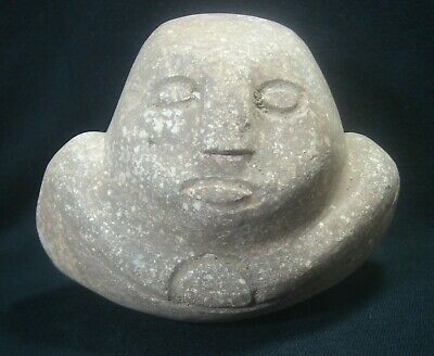 Ancient Metal Age Philippines Anthropomorphic Boat Stone Idol.  500 Bce -1000 Ce