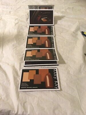 Mary Kay Color Card Sample Packets Lot Of 5 Chocolate