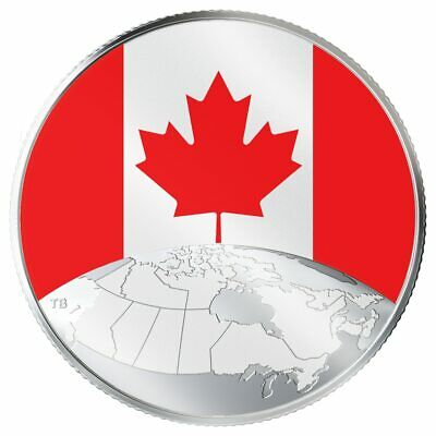 2019 Canada $5 This is Canada! Pure silver glow in dark Canadian flag - sealed
