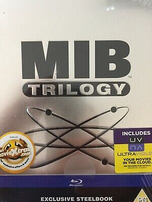 MEN IN BLACK TRILOGY - BLURAY Steelbook Packaging BRAND NEW! UK Import