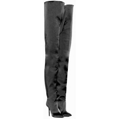 Womens Pointy Toe Long Over The Knee Thigh Boots High Heel Nightclub Stilettos