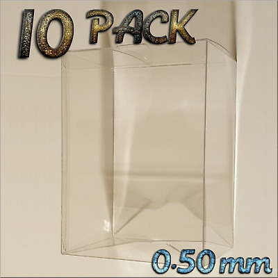 """10 Pack  4"""" Funko Pop Vinyl Protector Display Cases 0.5mm Thick, Acid Free PET"""
