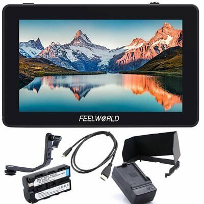 FEELWORLD F6 PLUS 5.5inch 3D LUT Touch Screen HDMI Monitor + Battery For Camera
