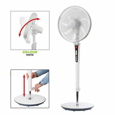 Ultra Quiet Fan NSA Eco Pedestal Fan with Remote Control /& Timer SFDC-40101RC