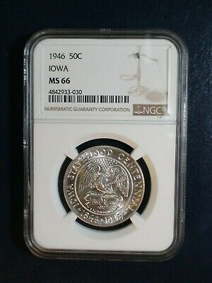 1946 IOWA Commemorative Half Dollar NGC MS66 50C SILVER Coin PRICED TO SELL NOW!