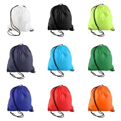 1x Hiking Drawstring Waterproof Rope Bags Backpack Casual Candy Color Fashion