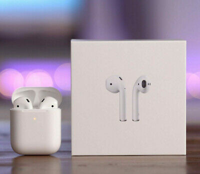 Apple AirPods 2nd gen with Wireless case Bluetooth In-Ear Headsets, NEW