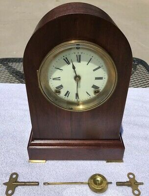 1910's Antique Ansonia Mantel Shelf Clock Working Beautifully Bee Hive