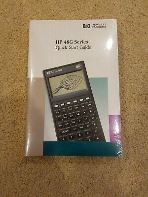 HP Hewlett Packard 48G Graphing Calculator SEALED Quick Start And Users Guide