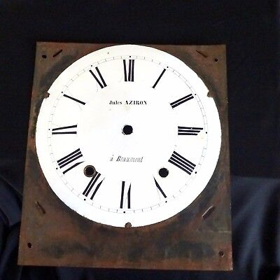 Vintage Clock Face French Wall Decor Antique White Clock Parts Shabby Chic 10""