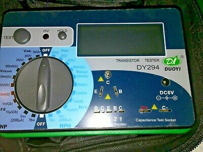 1pc DUOYI DY294 Digital Transistor DC & Capacitor parameter tester. New/Open Box