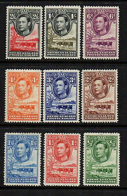 Bechuanaland 1938/52 KGVI Definitives to 2/6 (9 Stamps) - SG 118 to 126 - FM