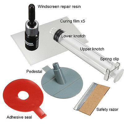 DIY Car Kit Wind Glass For Chip And  Set of Windscreen Windshield Repair Tool
