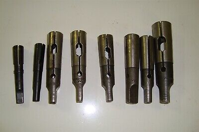 Misc Drill Sleeves #1Mt #2Mt #3Mt Qty 8 Pieces