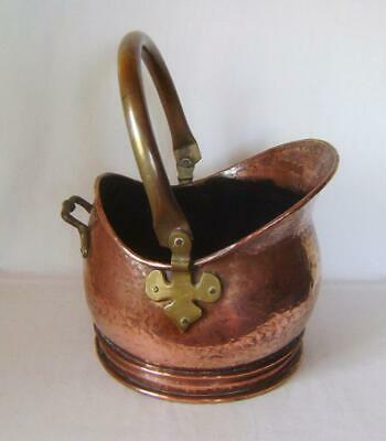 Antique Heavy Copper & Brass  Coal Scuttle: Smaller Size: Great Planter