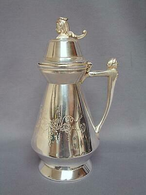 ANTIQUE PATENT 1865 No.180 SYRUP PITCHER HALL, ELTON & CO. WALLINGFORD, CONN