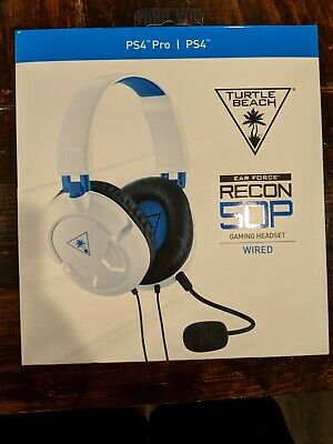 6dd62236172 Turtle Beach Ear Force Recon 50P Stereo Gaming Headset Playstation 4 PS4  White