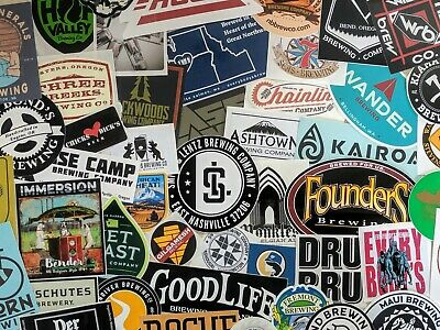 Craft Micro Brewery Sticker Decal: Lot of 5 Different Beer, Brew, Breweries