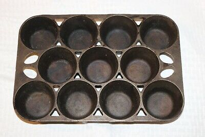 Vintage GRISWOLD 948 No.10 Popover Cornbread Muffin Pan Cast Iron ERIE PA