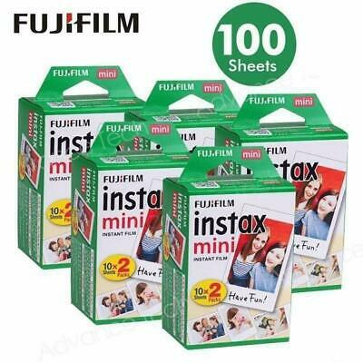 100 Prints Fujifilm instax Mini Film for Fuji 9 8 25 50 7s Neo 90 SP1