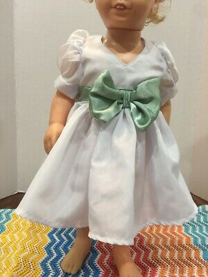 "Fits 19"" Chatty Cathy Doll Clothes Gown Party Wedding White Communion Dress"