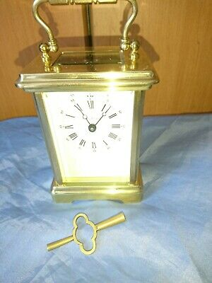 A Stunning Brass Carriage Clock By The London Clock Co.