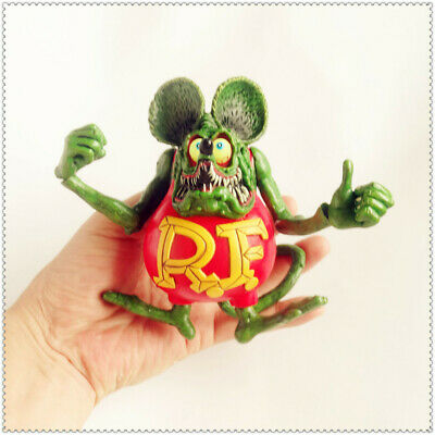 """Green Rat Fink Ed! Big Daddy Roth RF Action Figure 4""""-5"""" #A1"""