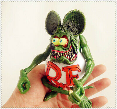 """Green Rat Fink Ed! Big Daddy Roth RF Action Figure 4""""-5"""" #A2"""