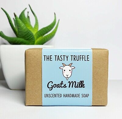 Goats Milk Soap Bar, Unscented, Handmade, Pure, Organic, Eco Friendly
