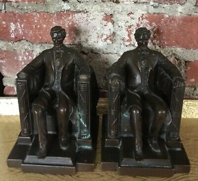 Vintage Abraham Lincoln Memorial Bookends Jennings Brothers Daniel C. French