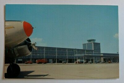 Vintage Halifax International Airport Kelly Lake Postcard 1965 Plane