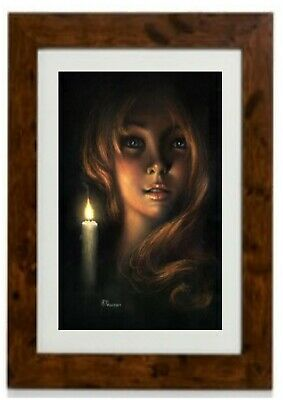 Girl By Candlelight Framed Print By Steven Pearson
