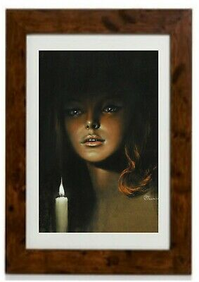 Girl By Candlelight 2 Framed Print By Steven Pearson