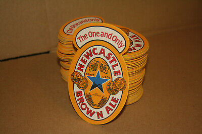 Set 64 Beer Coasters Newcastle Brown Ale The One And Only 50c Each FREE SHIPPING